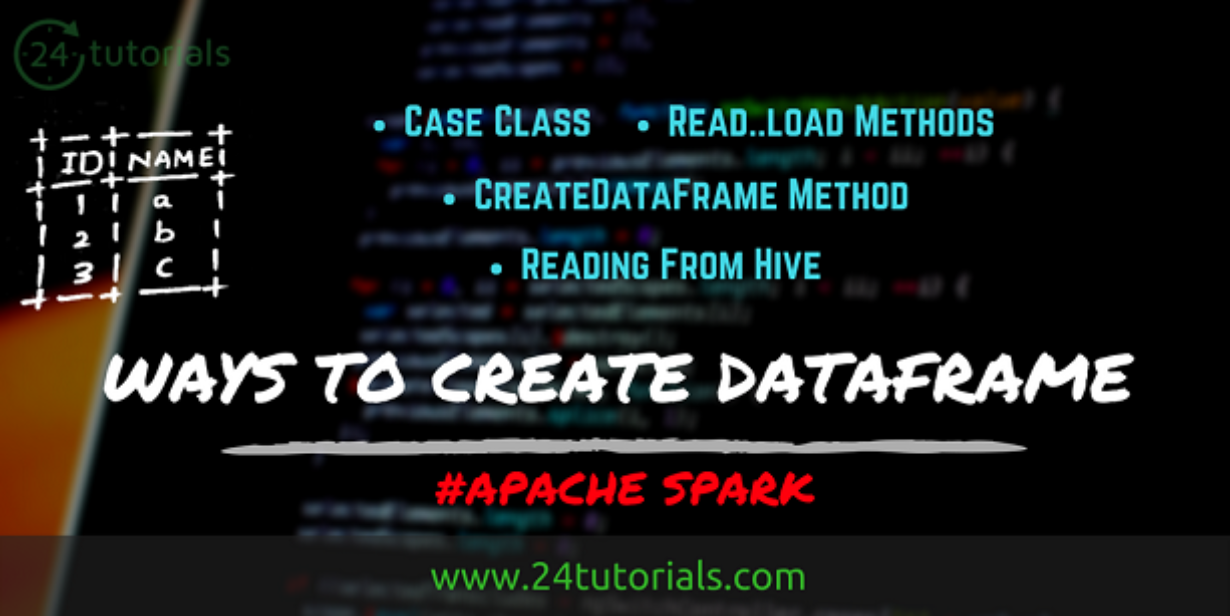 Ways to Create DataFrame in Apache Spark [Examples with Code]