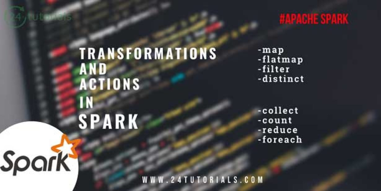 Transformation and Actions in Spark - 24 Tutorials